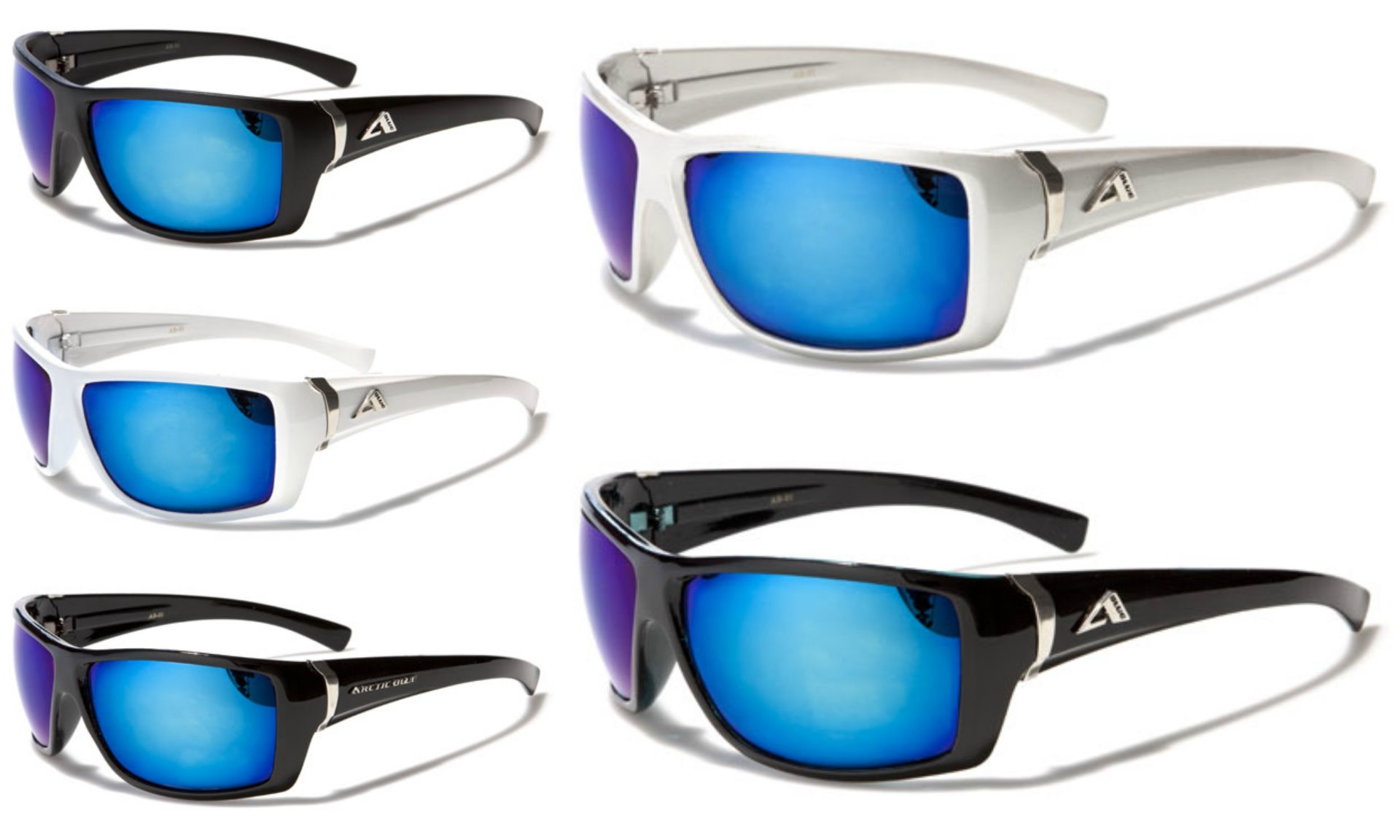 6e1d80813e9 Men s Artic Blue Anti-Glare BlueTech Mirrored Lens Sunglasses