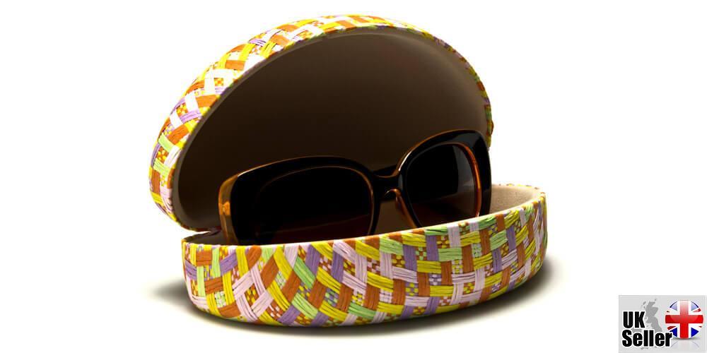 Pastel-Paper-Woven-Clam-Sunglasses-Case thumbnail 10