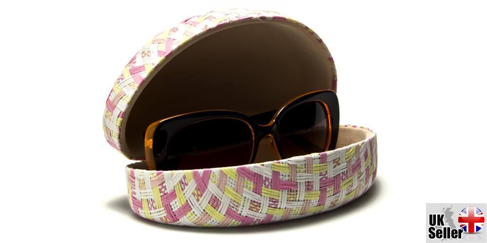 Pastel-Paper-Woven-Clam-Sunglasses-Case thumbnail 13