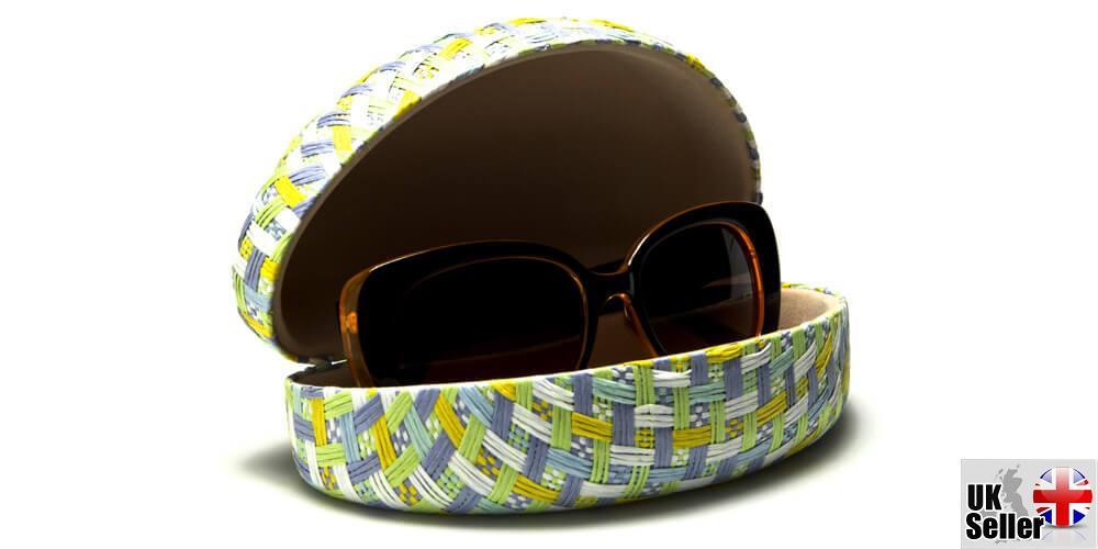 Pastel-Paper-Woven-Clam-Sunglasses-Case thumbnail 4