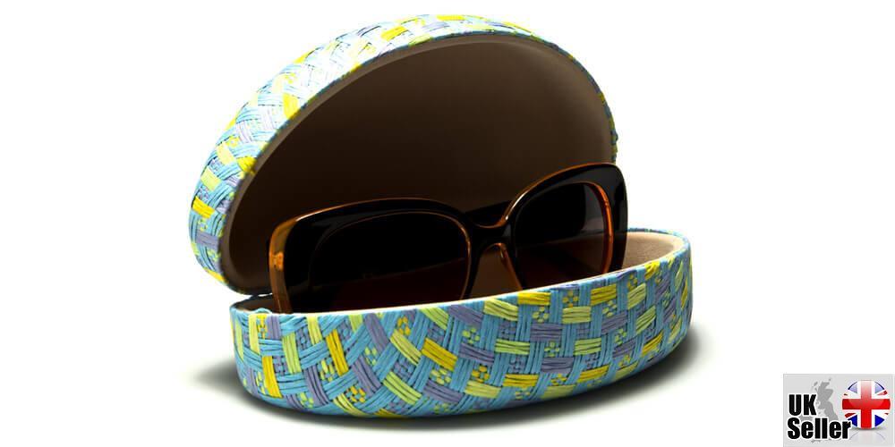 Pastel-Paper-Woven-Clam-Sunglasses-Case thumbnail 7