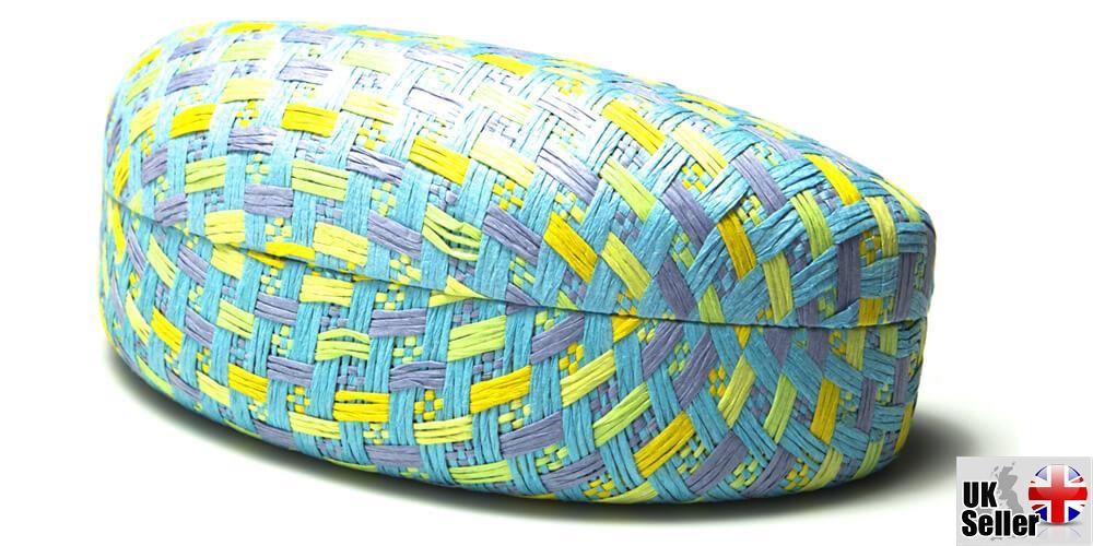 Pastel-Paper-Woven-Clam-Sunglasses-Case thumbnail 8