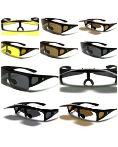 Barricade Polarized Fit-Over, Flip-up/Lift-up Sunglasses / Driving