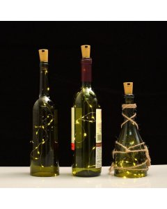 15 LED Bottle Fairy String Cork Light - Perfect for Weddings / Outdoor.  - UK Seller
