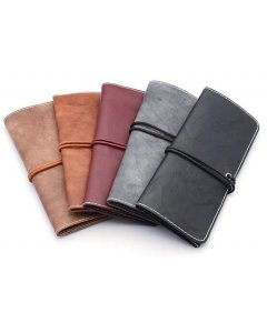 Soft Faux Leather Glasses Wrap Pouch Case