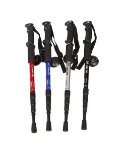 Telescopic Anti-Shock Hiking/Walking/Rambler Pole/Stick 4 Section 50-110cm