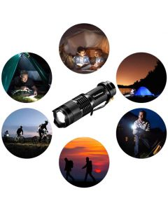 Pocketman CREE Q5 Zoomable 3 Modes LED Torch - AA Battery